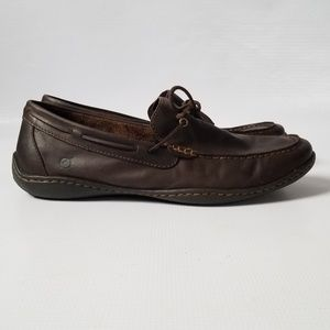 BORN Mens Dark Brown Leather Driving Loafers 11